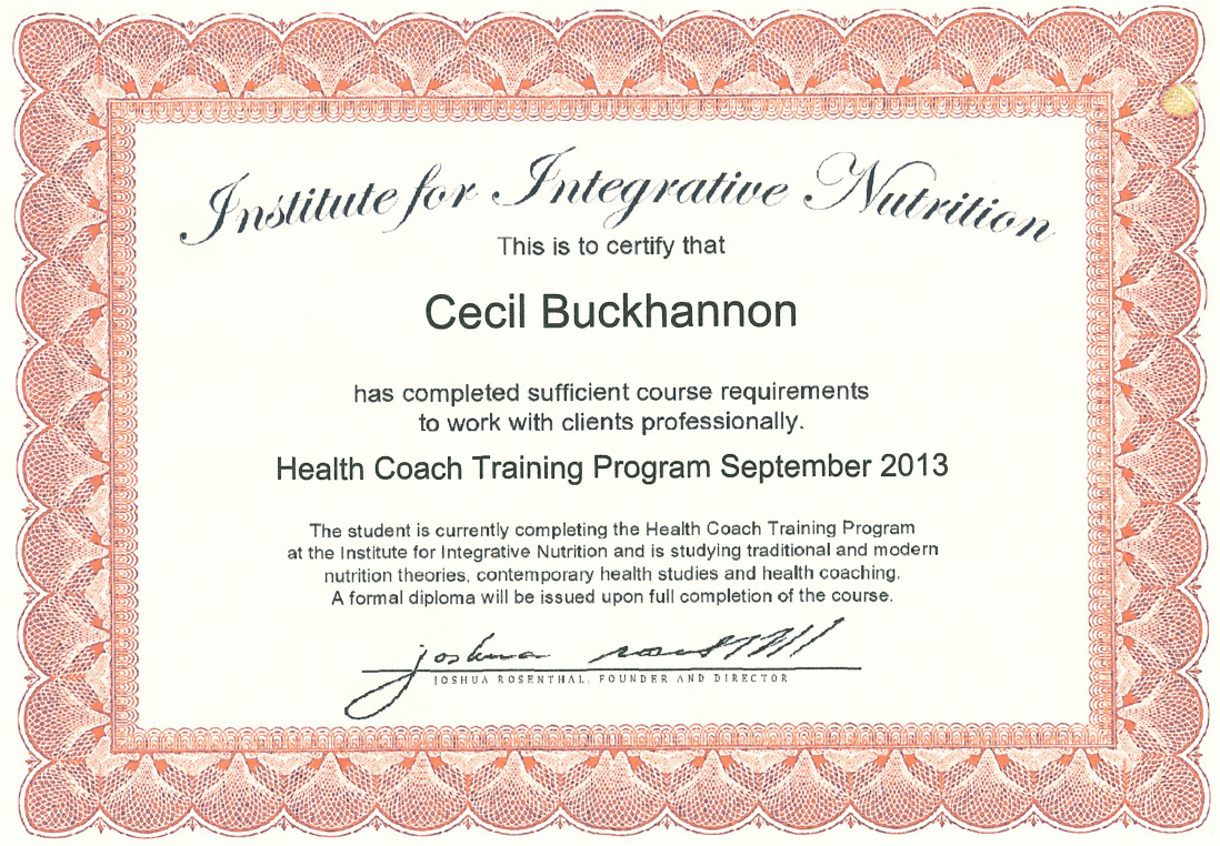 Health coach certification cecil buckhannon mindfulness health coach certificate xflitez Images